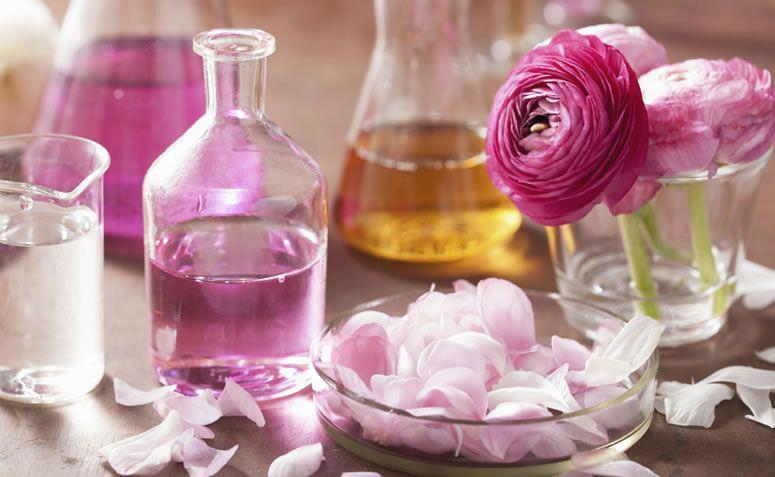cosméticos a base de flores