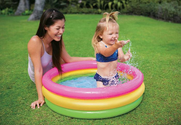 piscinas infantiles jardín