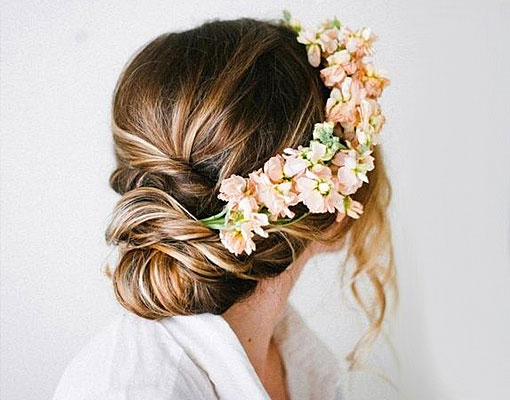 flores para el cabello